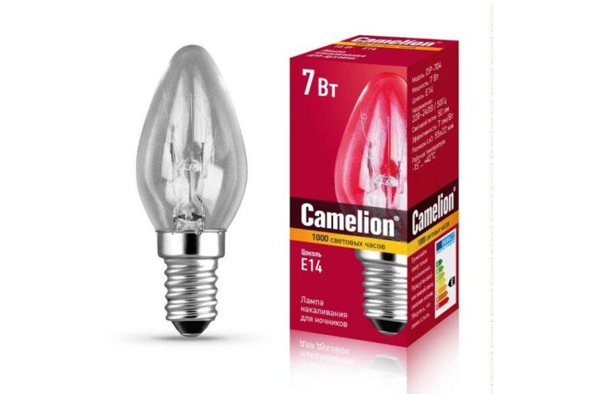 camelion lampa dlya nochnikov prozrachnaya e14 7w 50lm 220v art 712889 Люстры Омск
